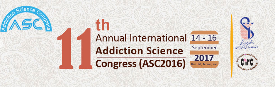 The 11th international congress of addiction Sciences will be held in, Tehran, I. R. of Iran